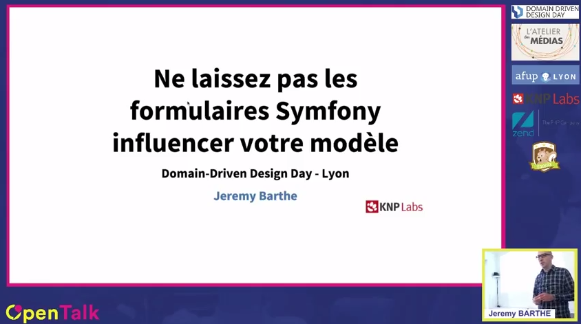 DDD Day 2016 Ne laissez pas les formulaires Symfony influencer votre modèle par Jeremy Barthe YouTube
